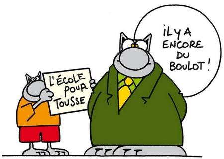 Humour le Chat l'école pour tousse