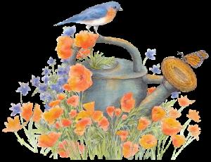 Arrosoir fleuri gif