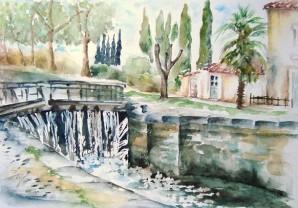 Canal écluse St Martin Lalande