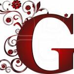 G rouge foncé gif