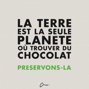 Humour La terre et le chocolat