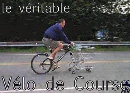 Humour Le véritable vélo de course