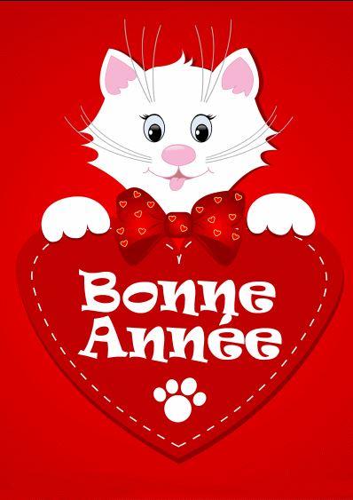 chat-bonne-annee-sur-coeur-rouge
