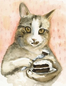 Chat gourmand gif