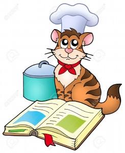 Chat livre de cuisine gif