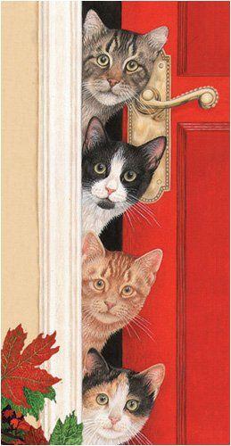 Chats à la porte gif