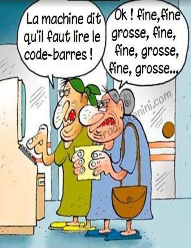 Humour code barre