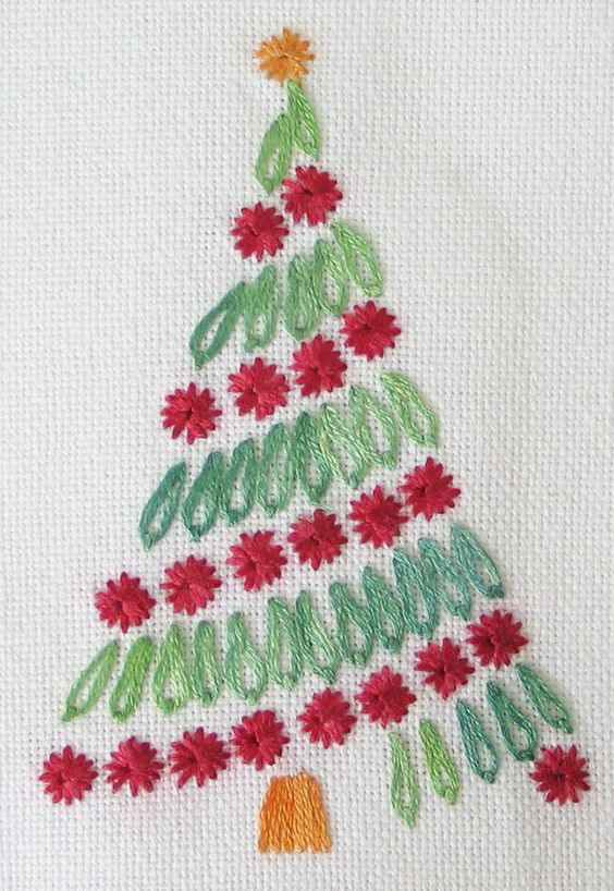 sapin-broderie