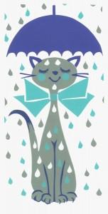 Chat sous la pluie gif