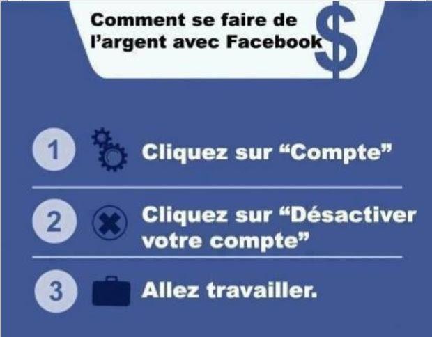 Humour Gagner de l'argent avec facebook