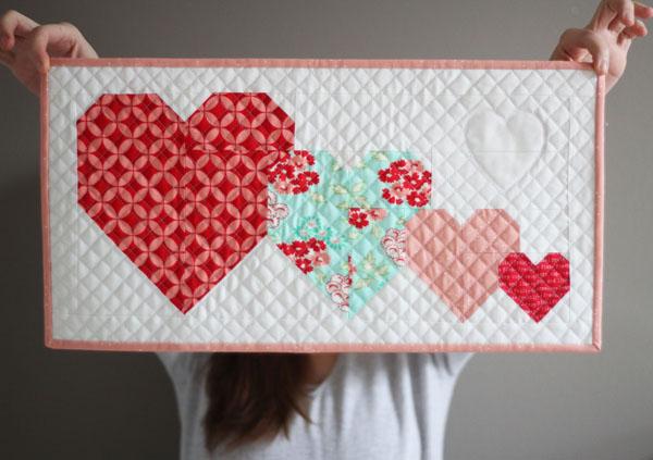 Mini quilt St Valentin