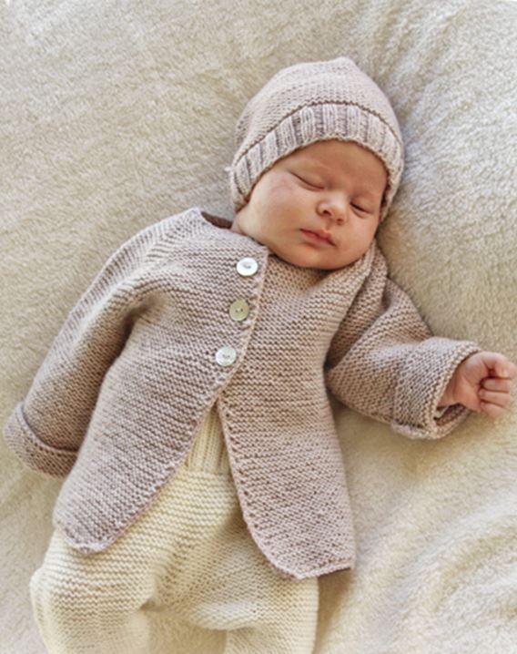Gilet et bonnet assorti bébé