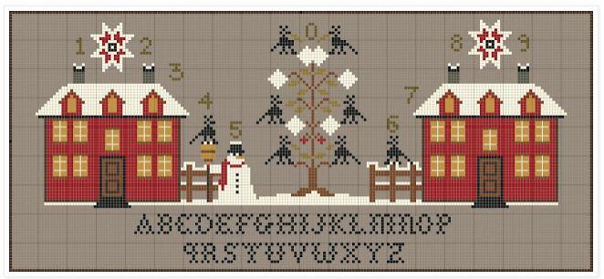 Les maisons rouges Noël