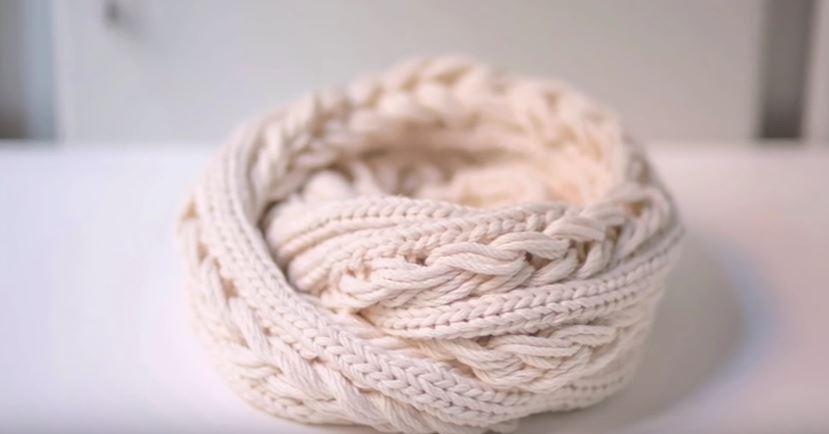 Snood tricotin