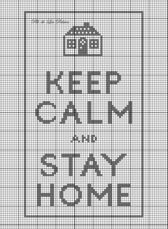 CHOIX Keep Calm and Stay Home signé