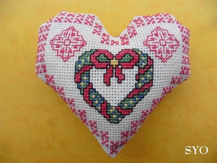 Cœur Valentin sapin Noël : Couronne cœur face A